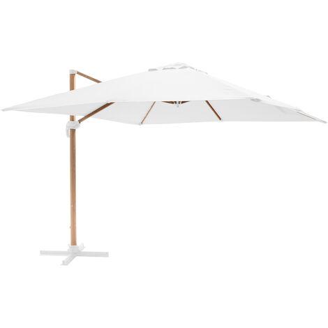 Parasol déporté rotatif, structure en aluminium, 3x3m