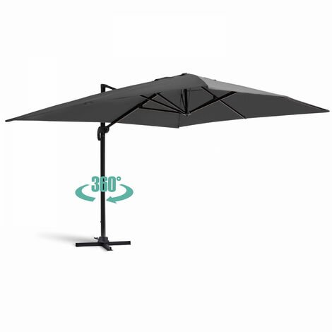 Parasol déporté rotatif, structure en aluminium, 4x3m