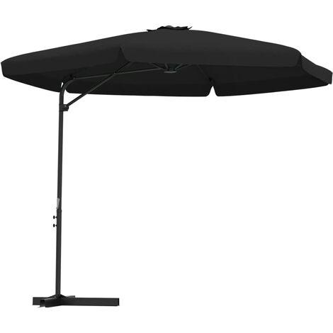 Parasol d'extérieur avec mât en acier 300 cm Noir