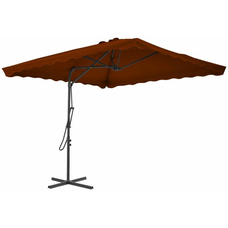 Vidaxl - Parasol d'extérieur avec mât en acier Terre cuite 250x250x230cm