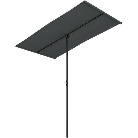 Parasol d'extérieur avec mât en aluminium 180x130 cm Anthracite
