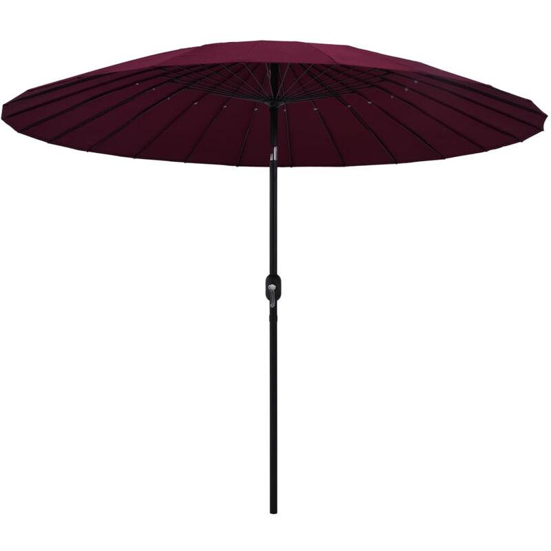 Asupermall - Parasol d'exterieur avec mat en aluminium 270 cm Bordeaux
