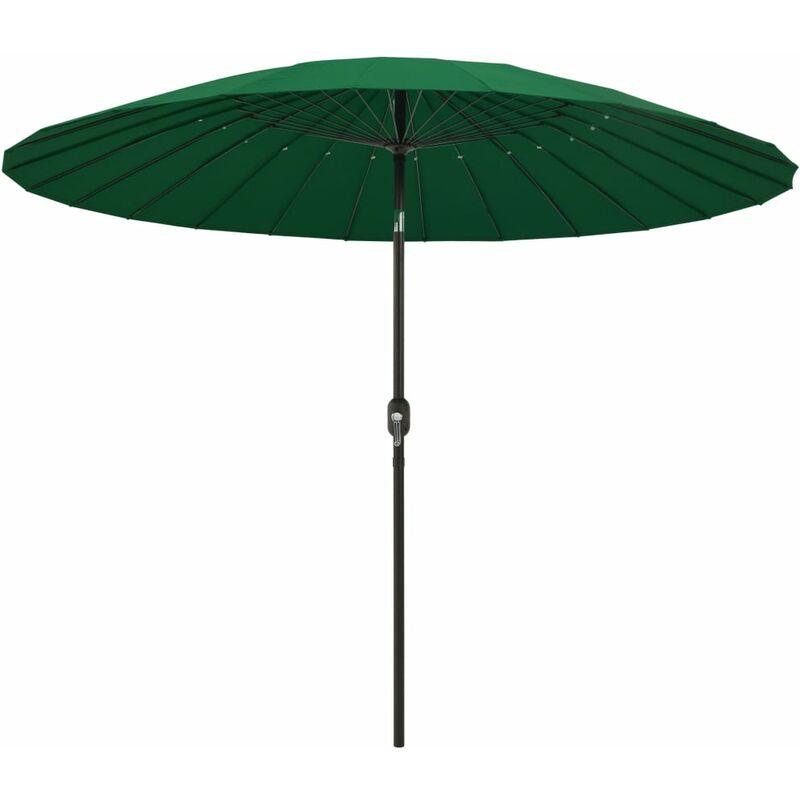 Parasol d'extérieur avec mât en aluminium 270 cm Vert
