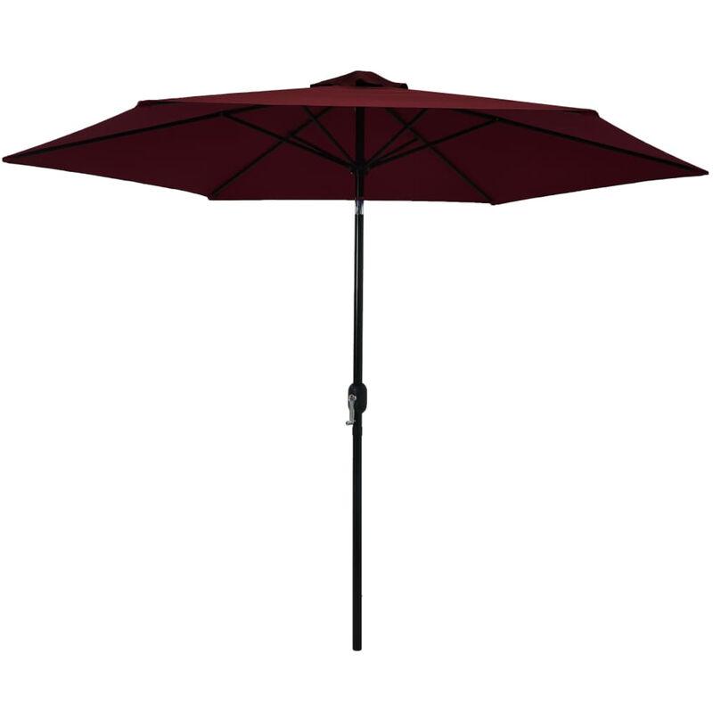 Parasol d'exterieur avec mat metallique Bordeaux 300 cm