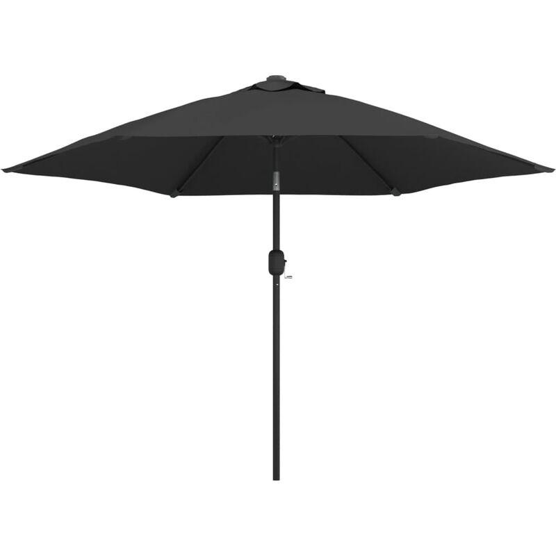 Parasol d'extérieur avec poteau en métal 300 cm Anthracite