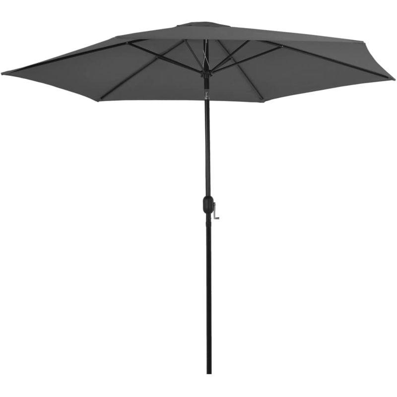 Parasol d'exterieur avec poteau en metal 300 cm Anthracite