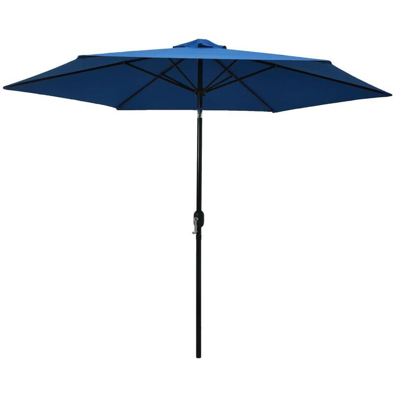 Parasol d'extérieur avec poteau en métal 300 cm Azuré