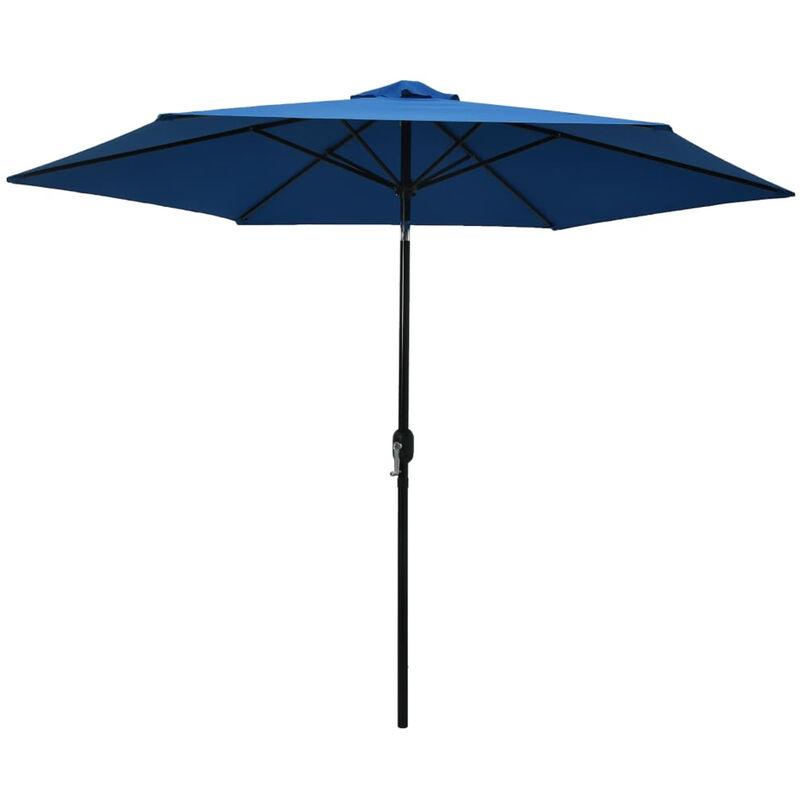 Asupermall - Parasol d'exterieur avec poteau en metal 300 cm Azure