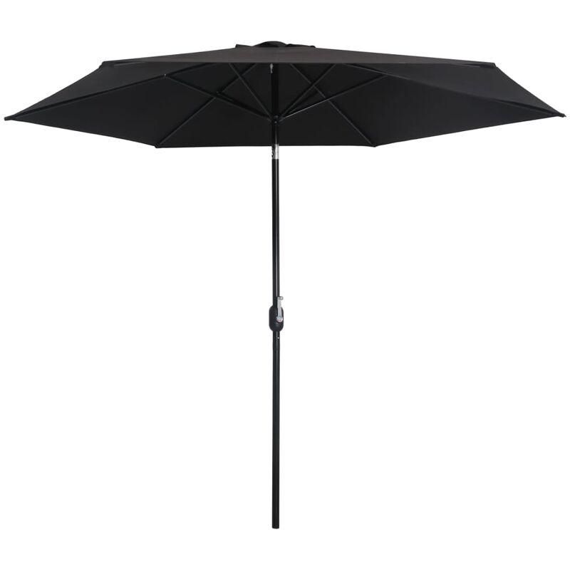 Parasol d'extérieur avec poteau en métal 300 cm Noir