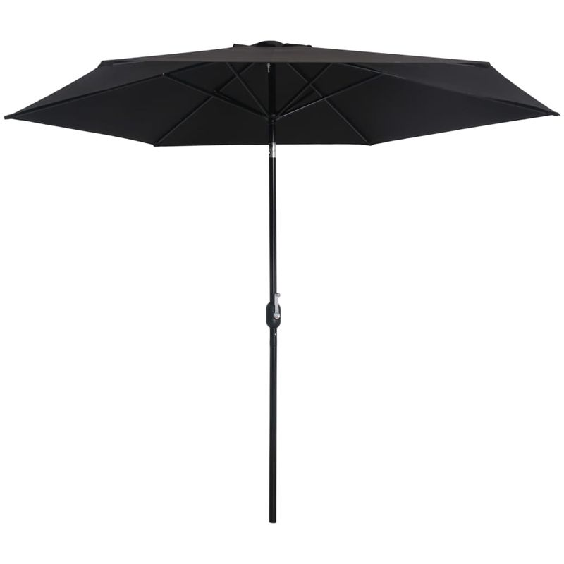 Asupermall - Parasol d'exterieur avec poteau en metal 300 cm Noir