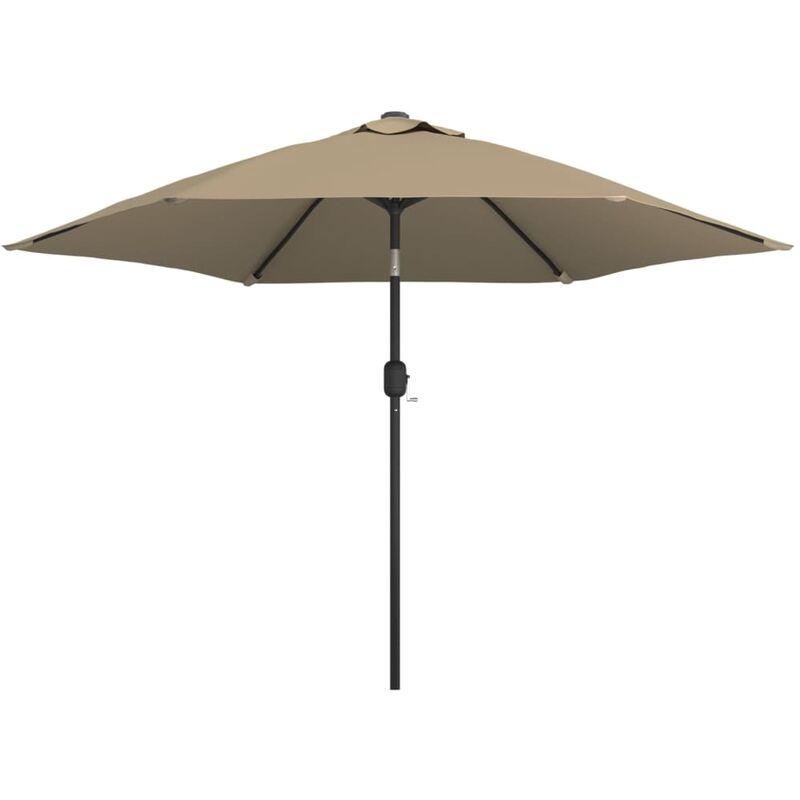 Parasol d'extérieur avec poteau en métal 300 cm Taupe