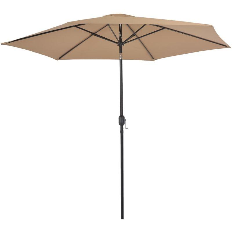 Asupermall - Parasol d'exterieur avec poteau en metal 300 cm Taupe