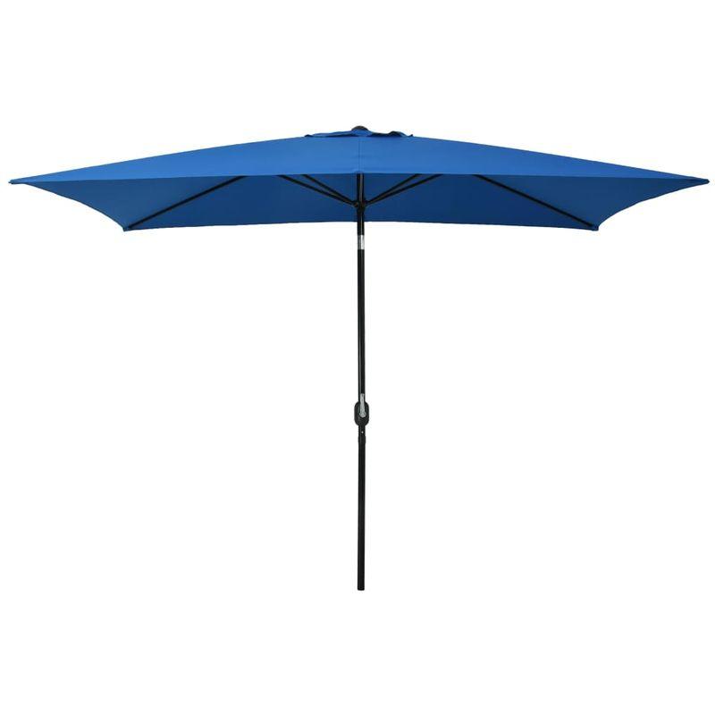 Asupermall - Parasol d'exterieur avec poteau en metal 300x200 cm Azure