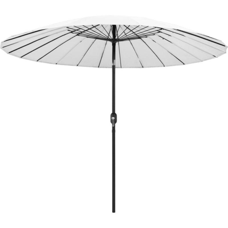 Asupermall - Parasol d'exterieur et mat avec aluminium 270 cm Blanc sable