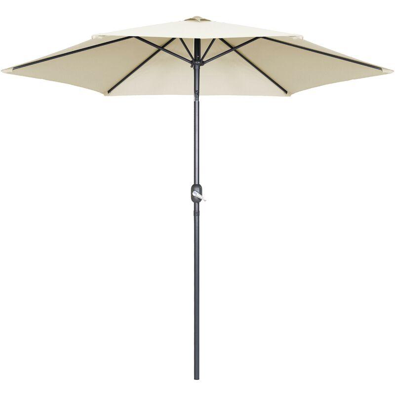 Parasol droit à manivelle inclinable 3 m - Matera - Ecru - Ecru