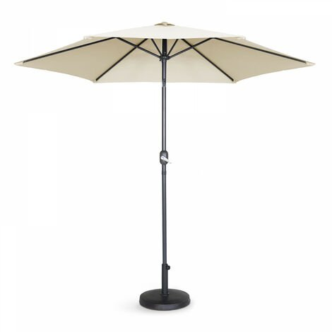Parasol droit à manivelle inclinable 3 m - Matera - Taupe - Taupe