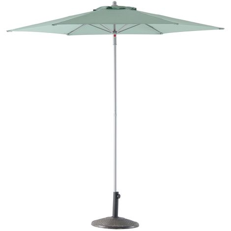 Parasol droit Anzio - Diam. 230 cm - Vert sauge
