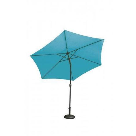 Parasol droit centré en coloris Bleu Petrole - Diametre 2 m -PEGANE-