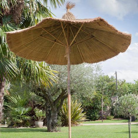 Parasol droit en bambou D250cm   Proloisirs