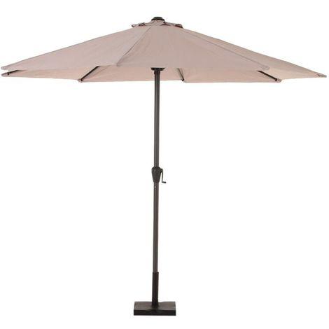 Parasol droit Fidji - 3 m. - Taupe