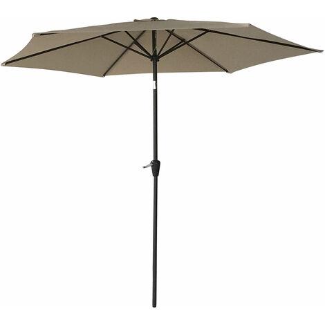 Happy Garden Parasol d/éport/é OAHU Rond 3,50m de diam/ètre Beige