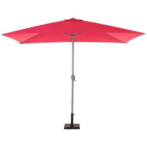 Parasol droit inclinable rectangulaire Fidji - 200 x 300 cm - Framboise - Framboise