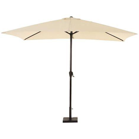 Parasol droit inclinable rectangulaire Fidji - 200 x 300 cm - Sable - Beige
