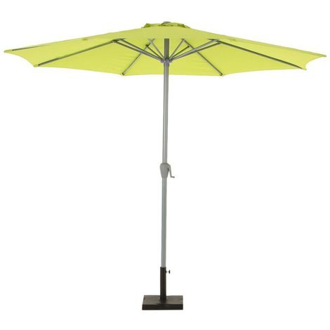 Parasol droit inclinable rond Fidji - Diam. 300 cm - Vert pistache - Vert