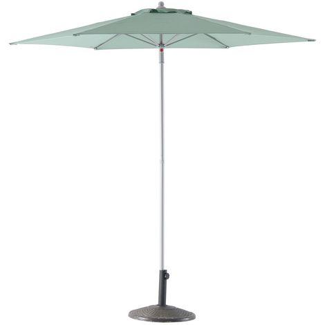 Parasol droit rond Anzio - Diam. 230 cm - Vert sauge - Vert