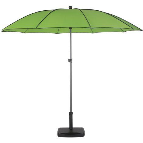 Parasol droit rond Bogota - Inclinable - Diam. 250 cm - Vert - Vert
