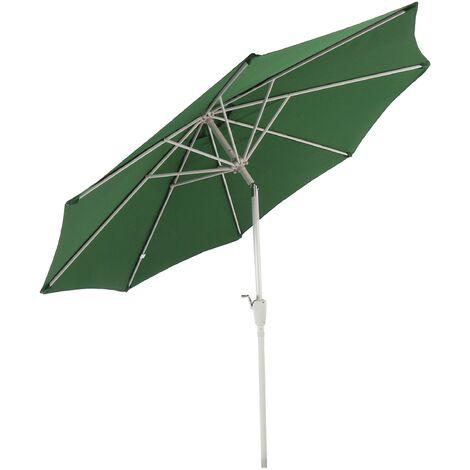Parasol en aluminium N19, 300 cm, inclinable, inoxydable ~ vert