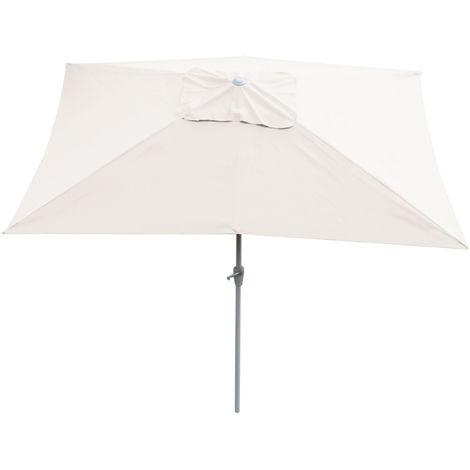 Parasol en aluminium N23, 2x3m, rectangulaire, inclinable, inoxydable