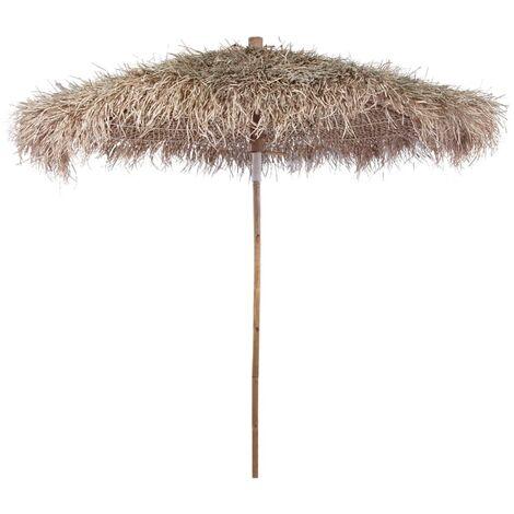 Parasol en bambou avec toit en feuilles de bananier 270 cm.