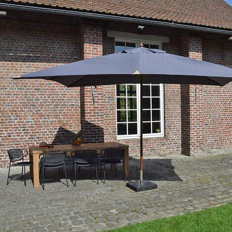 Parasol en bois 300x400 cm Rangoon
