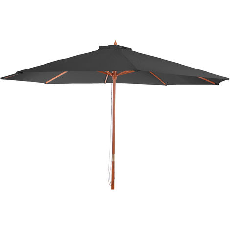 Parasol en bois, parasol de jardin Florida, parasol de marché, 3,5m