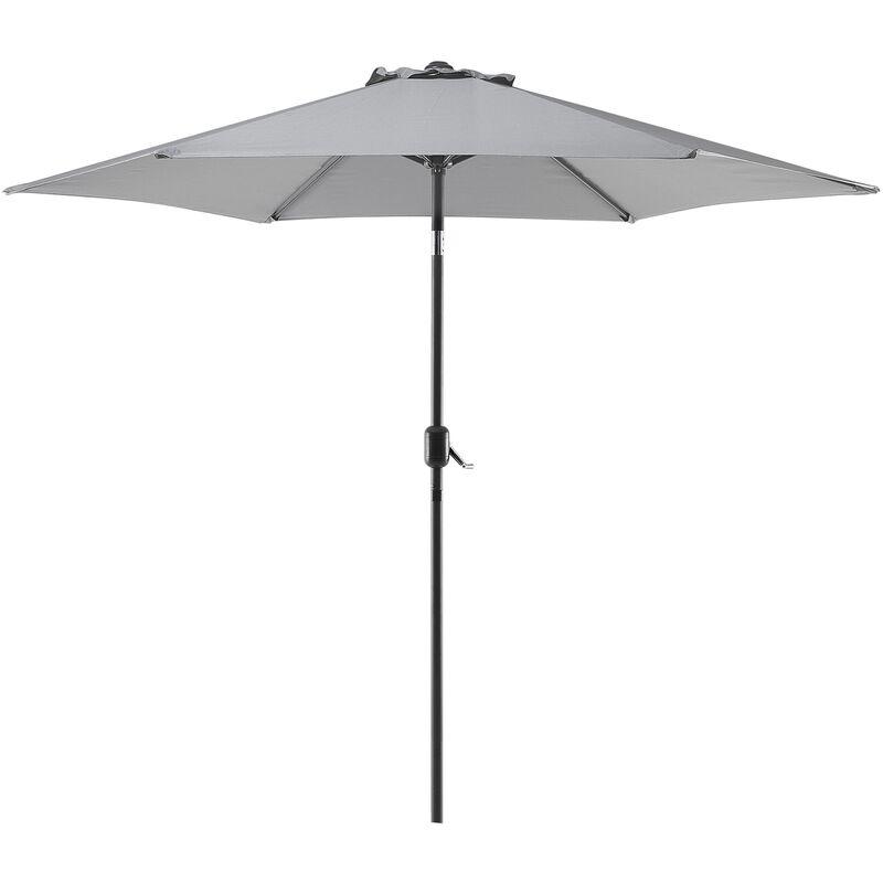 Parasol de jardin gris foncé Ø 270 cm VARESE