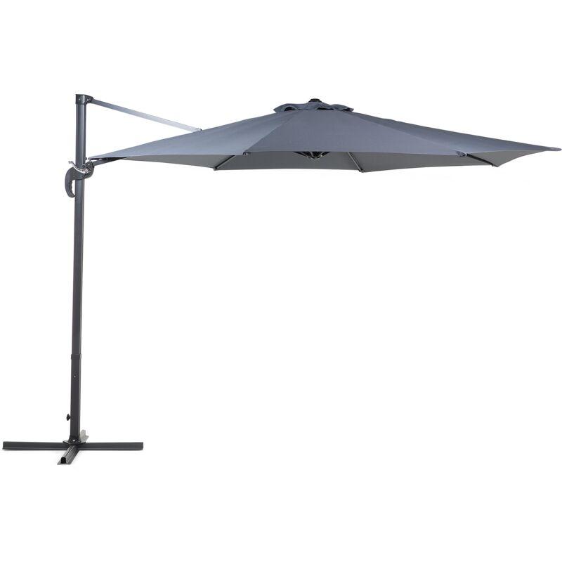 Grand parasol de jardin gris anthracite Ø 300 cm SAVONA