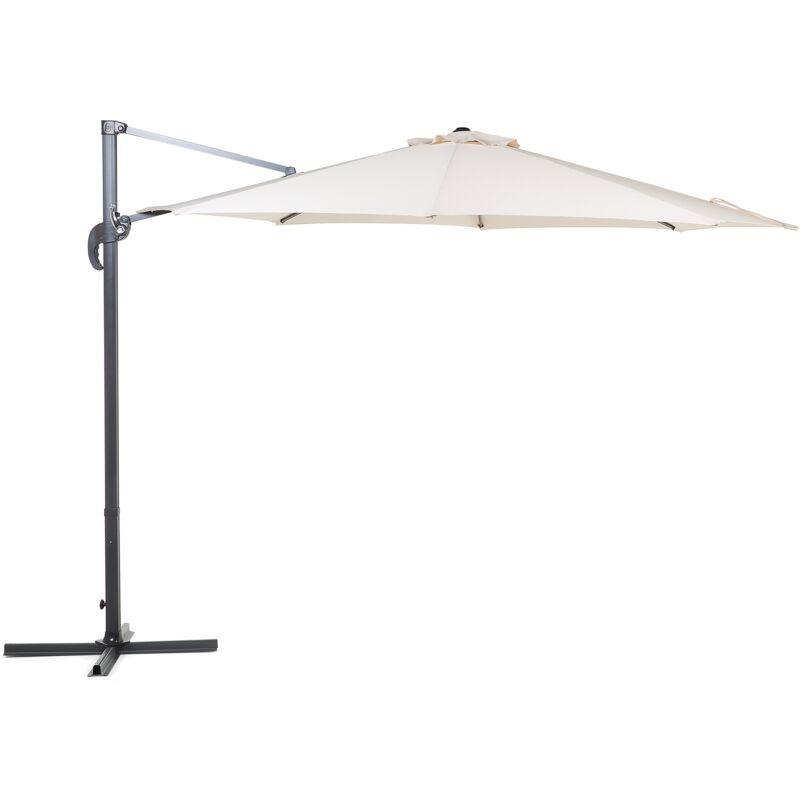 Grand parasol de Jardin beige clair Ø 300 cm SAVONA