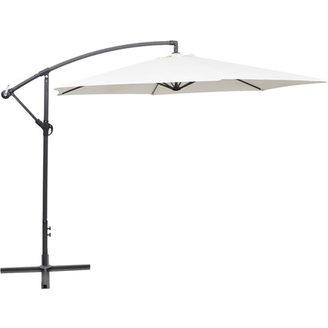Parasol en porte-à-faux 3 m Blanc sable