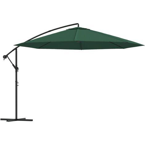 Parasol en porte-à-faux 3,5 m Vert