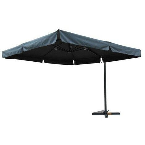 parasol en toile d port carr 3 x 3 m volant avec. Black Bedroom Furniture Sets. Home Design Ideas