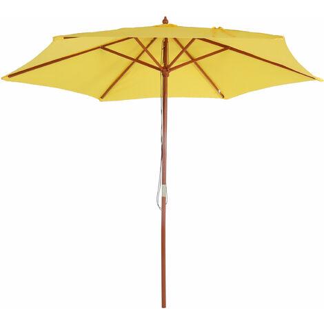 Parasol Florida, Parasol de jardin, Parasol de marché, Ø 3m polyester/bois 6kg ~ anthracite