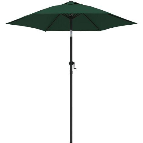 Parasol Green 200x211 cm Aluminium
