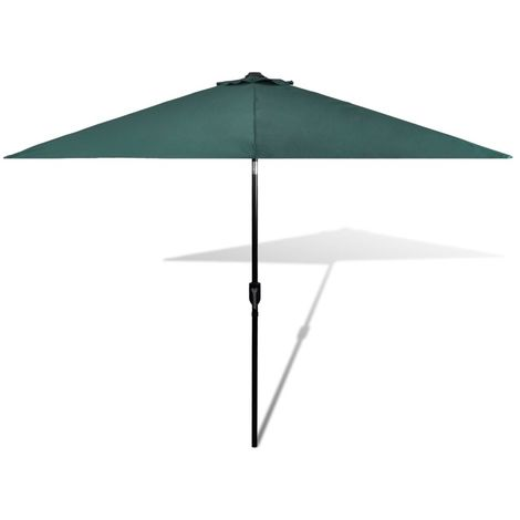 Parasol Green 3m Steel Pole