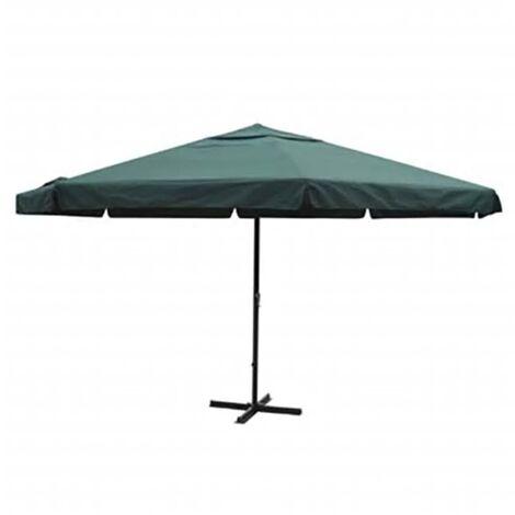 Parasol Green Aluminium 500 cm