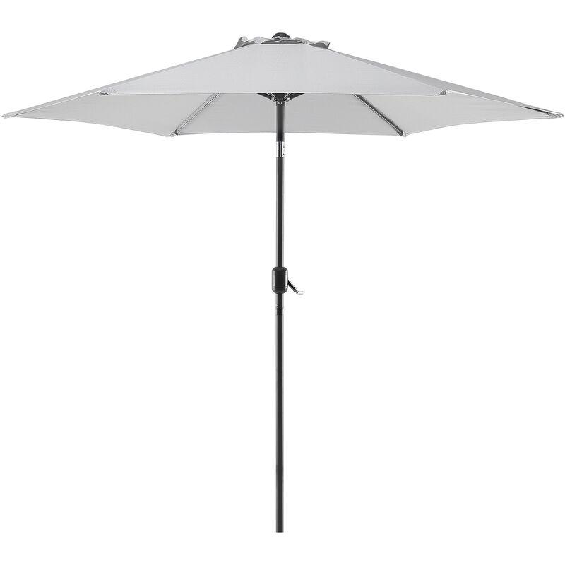 Parasol de jardin gris clair Ø 270 cm VARESE