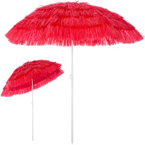 Parasol Hawaii - Ø 160 cm - Vert - Inclinable pour jardin terrasse plage