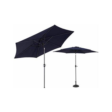 Parasol inclinable 270 cm noir avec pied en aluminum