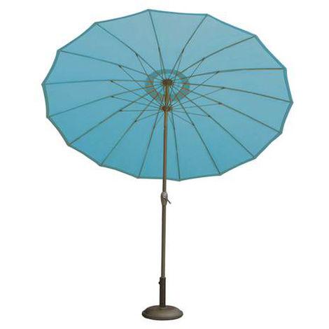 Parasol inclinable Bleu petrole en aluminium - Diametre 2.70 m -PEGANE-
