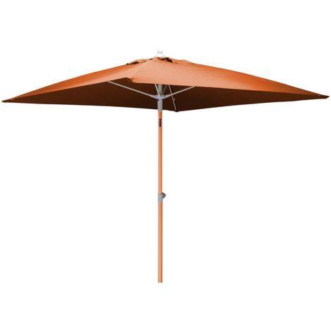 Parasol inclinable carré aluminium 2 mètres Orange